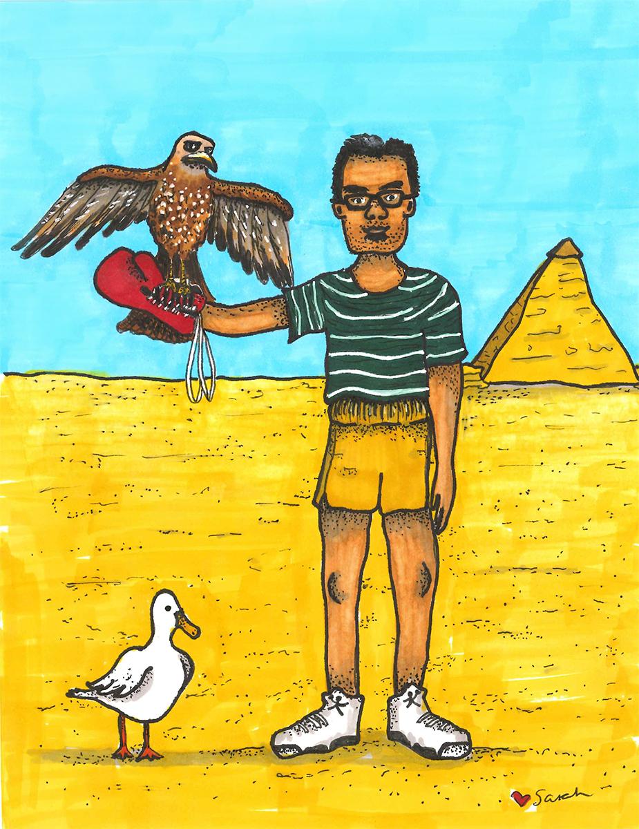Wasem and Oscar / marker illustration / The Artist By Night