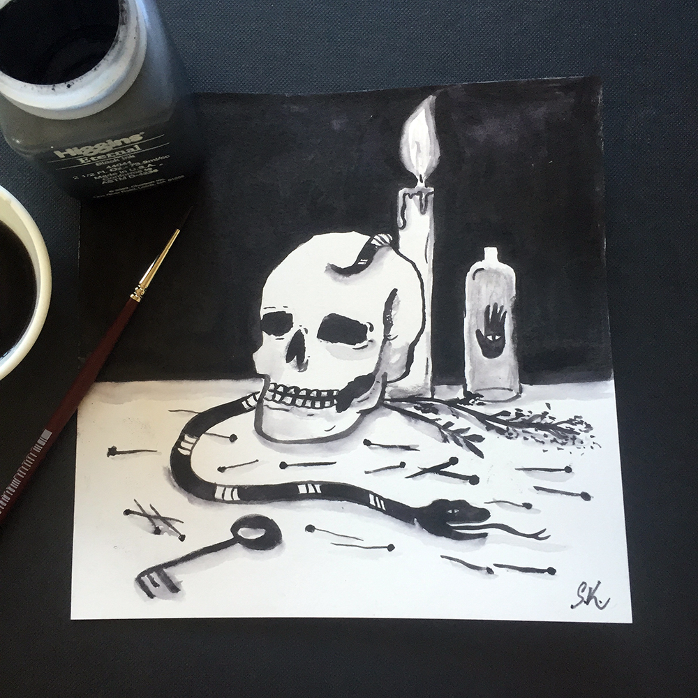 Voodoo Magic / ink / July 2016