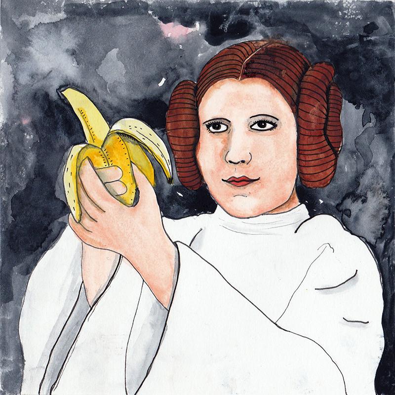 Princess Leia  / watercolor / July 2016