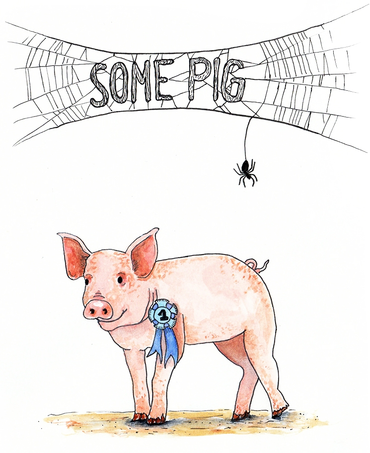 Some Pig  / watercolor / July 2016