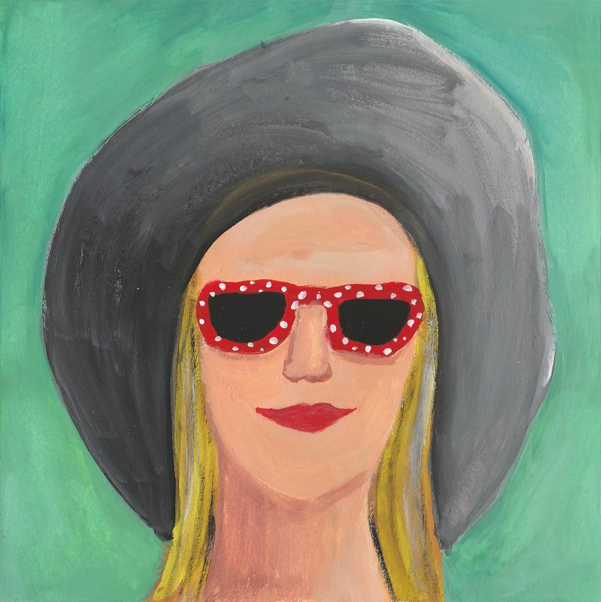 Self Portrait  / gouache / July 2016