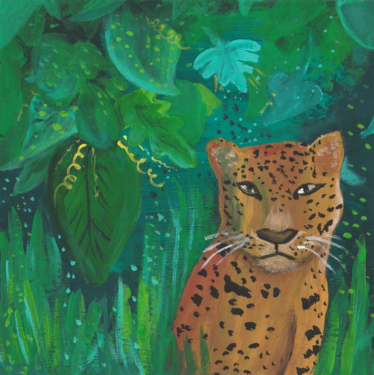 Jungle Cat  / gouache / July 2016