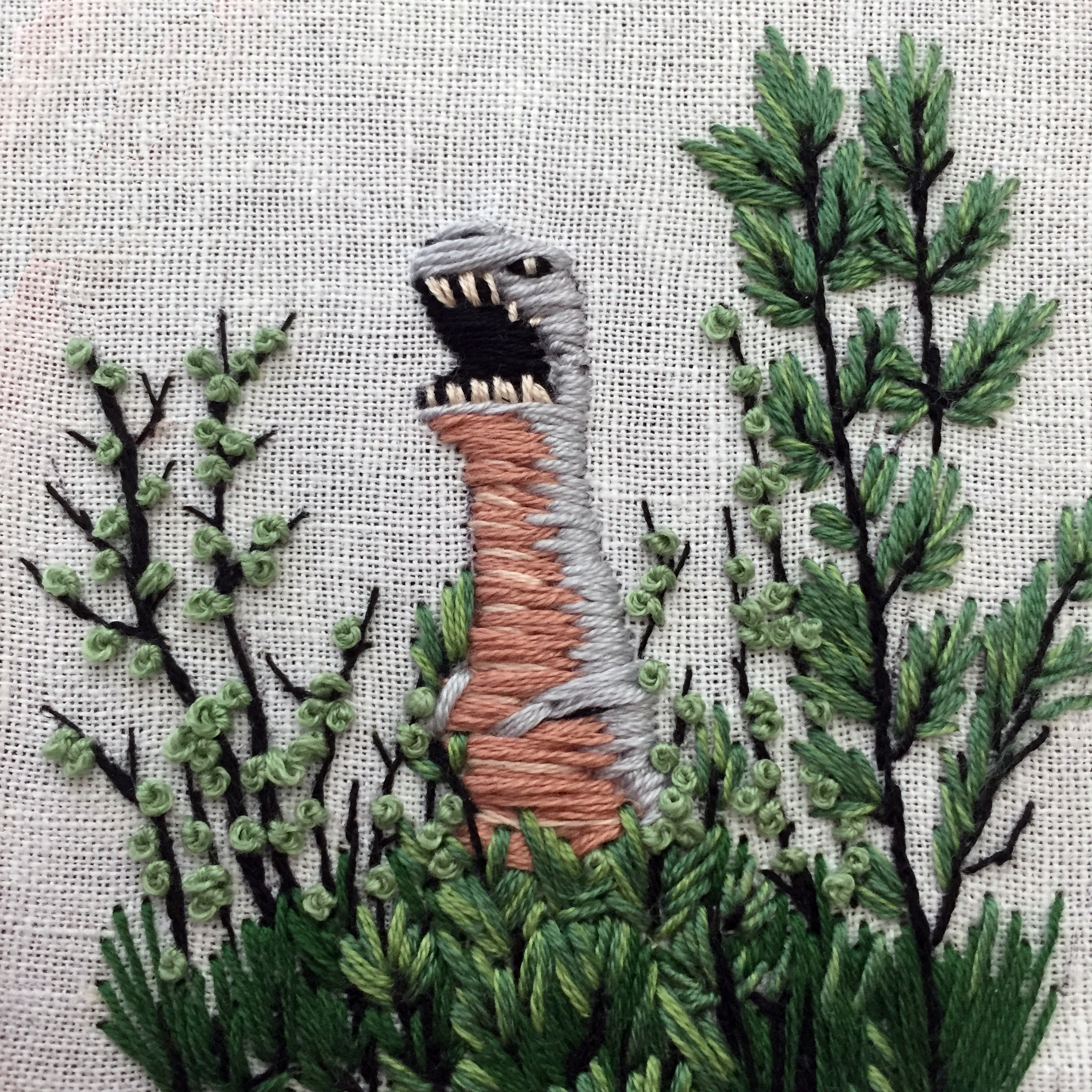 If you are finding foliage boring — just add a dinosaur!