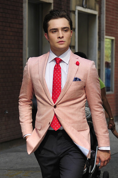Chuck Bass from Gossip Girl was an expert in expressing his style with colors. Via  Pinterest