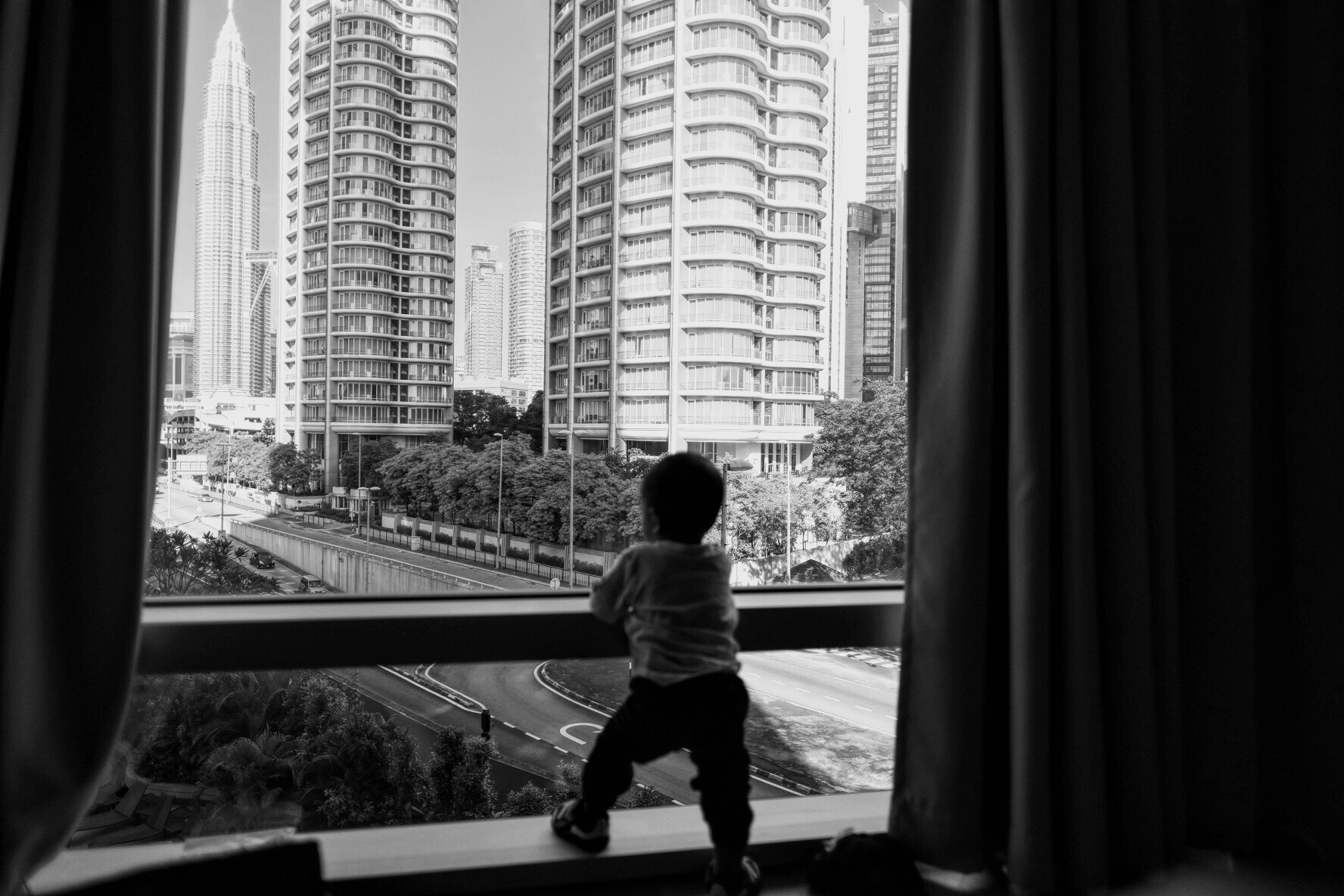 The little man really enjoyed the view of KL. Picture by Jeera Abdullah