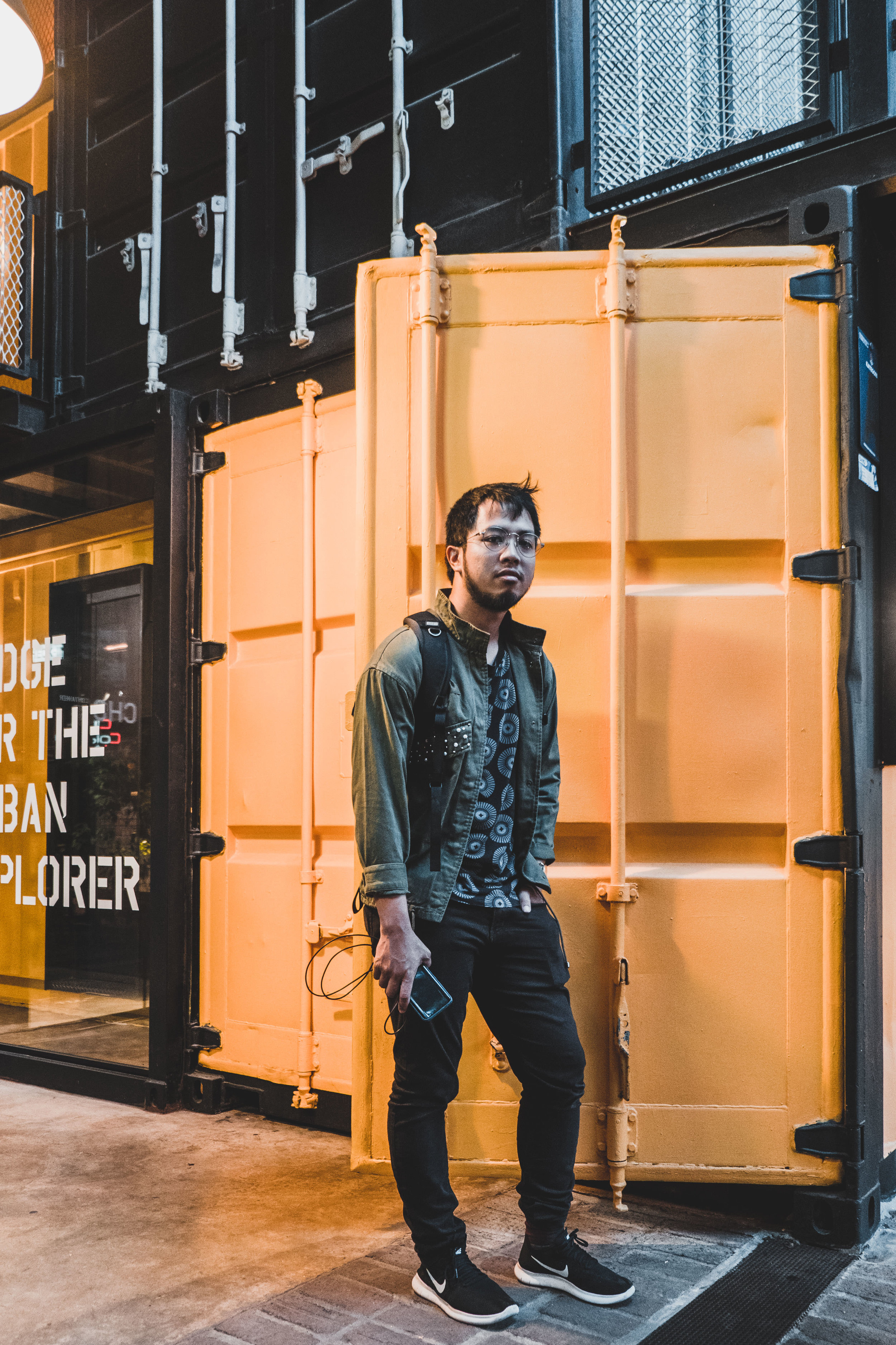Yellow container door for OOTD Wall anyone?