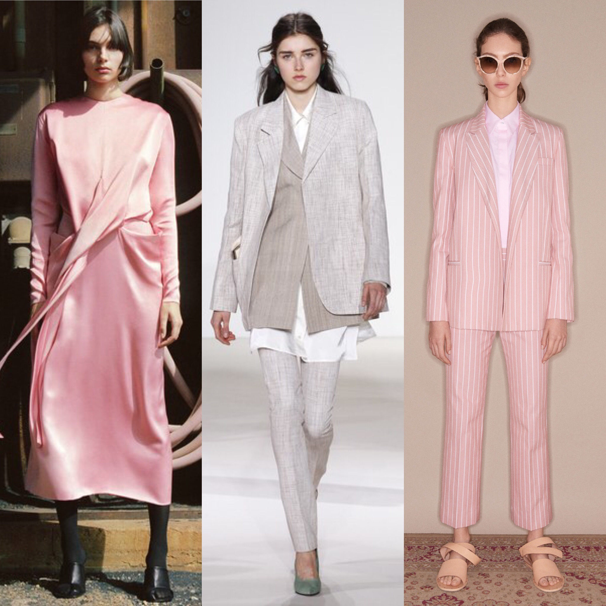 FROM L to R: Celine Fall '17, Victoria Beckham Spring '18 Runway, Victoria Beckham Spring '18 Editorial.