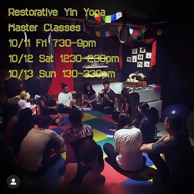 Hey peoples! This weekend we are hosting the Restorative Yin Yoga TT @weareyfhs and you can come take the three master classes taught by Jason just sign up through our website!  See you there!