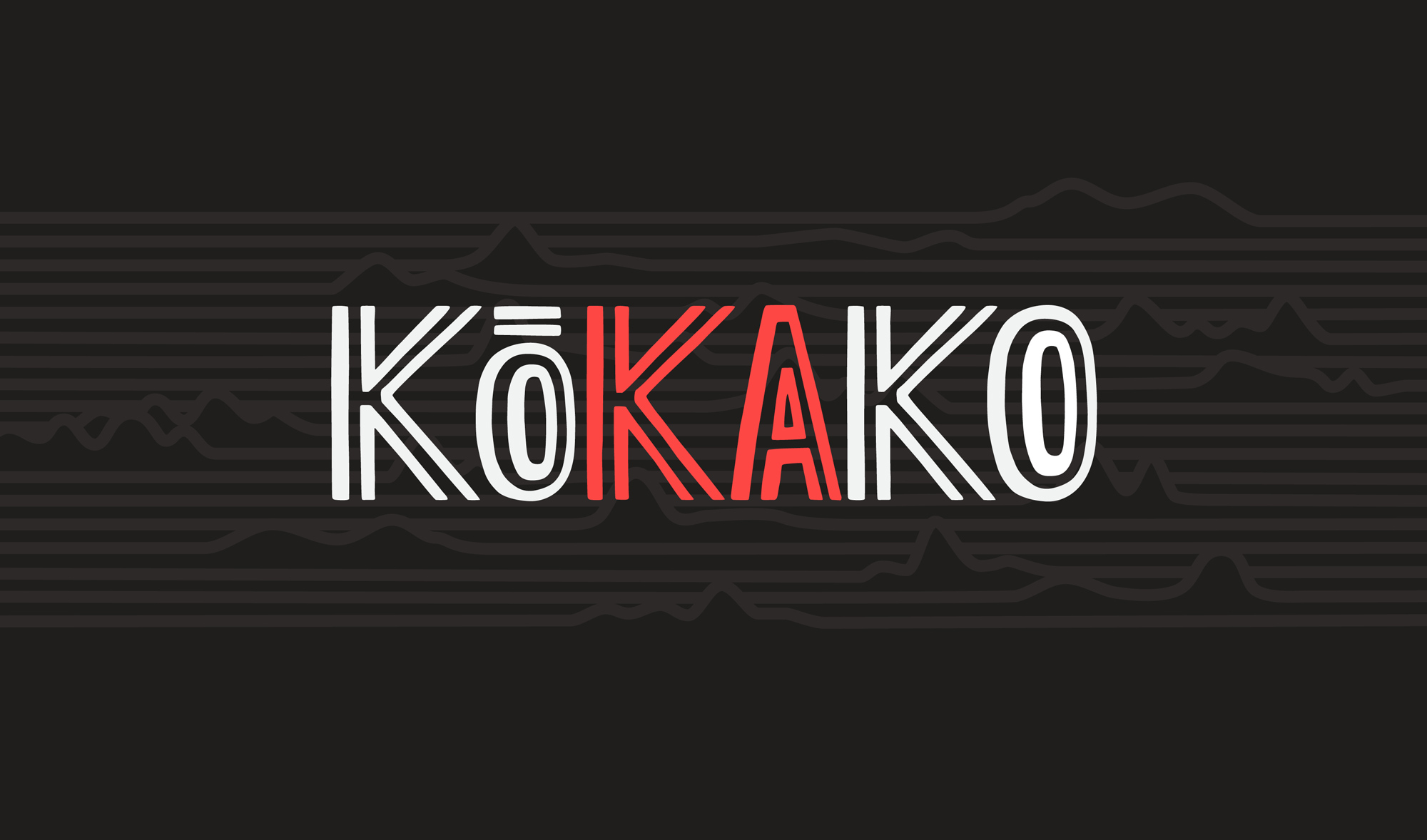 Kōkako measures the use of te reo on the radio. The identity is inspired by Māori visual motifs. The work won a Purple Pin at the Best Awards. Designed with Salted Herring.