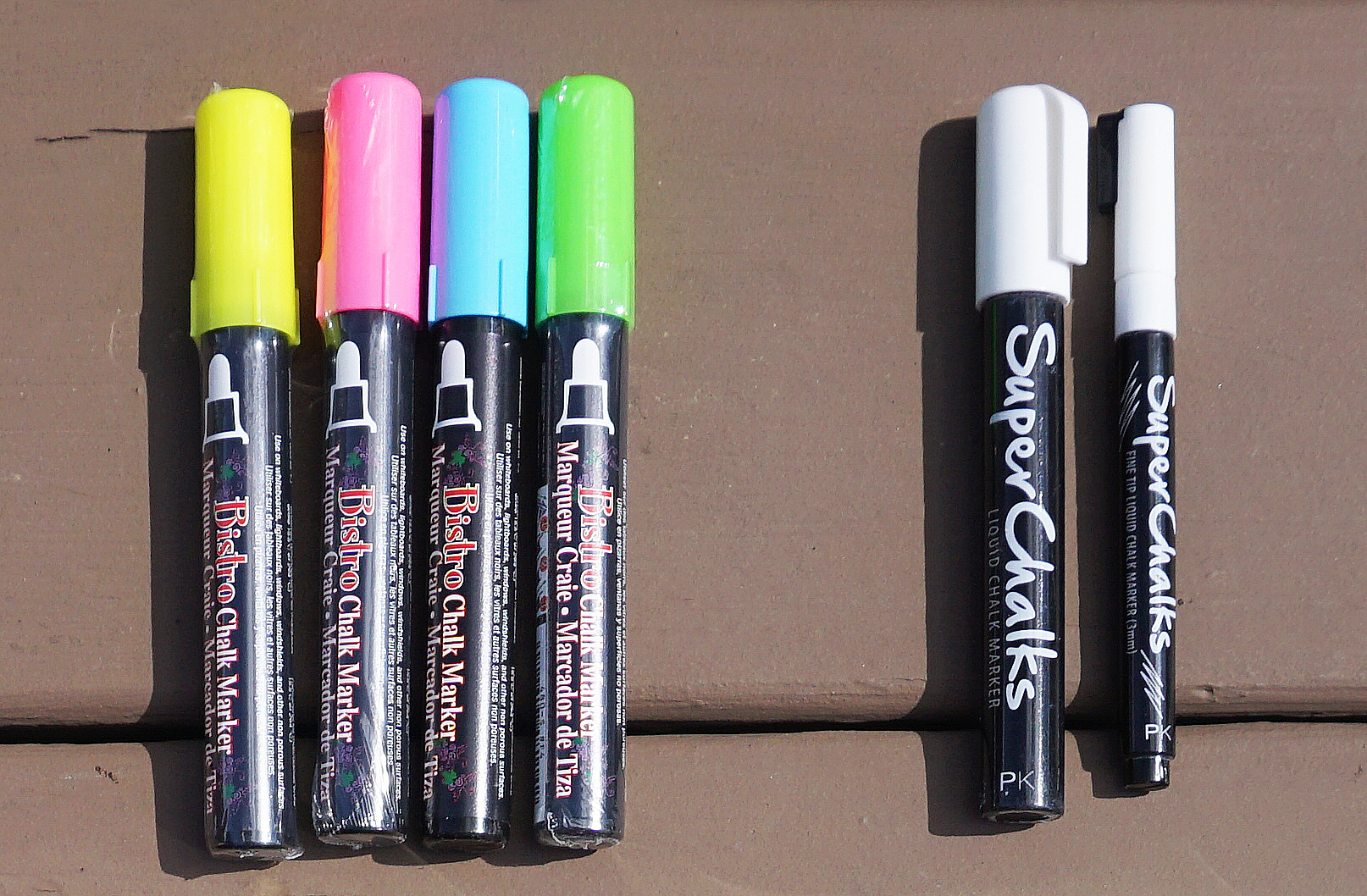 I have the four Bistro Chalk Markers as my neon options in case I need them and tend to use the white Super Chalks a lot when I need white markers, which is why I have both the fine and thick versions.