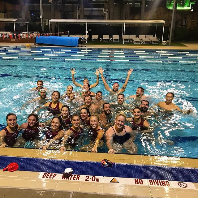 When training for @paris2018 and you get to play against the U20 team heading to Pan Pacs at the @valleypoolbrisbane.  What a good session! 🧜🏼♂️🤽🏼♂️🤽🏽♀️