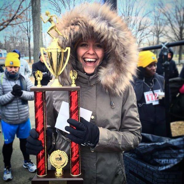 Lisa Tyack - braving minus 5 degrees for a running race!