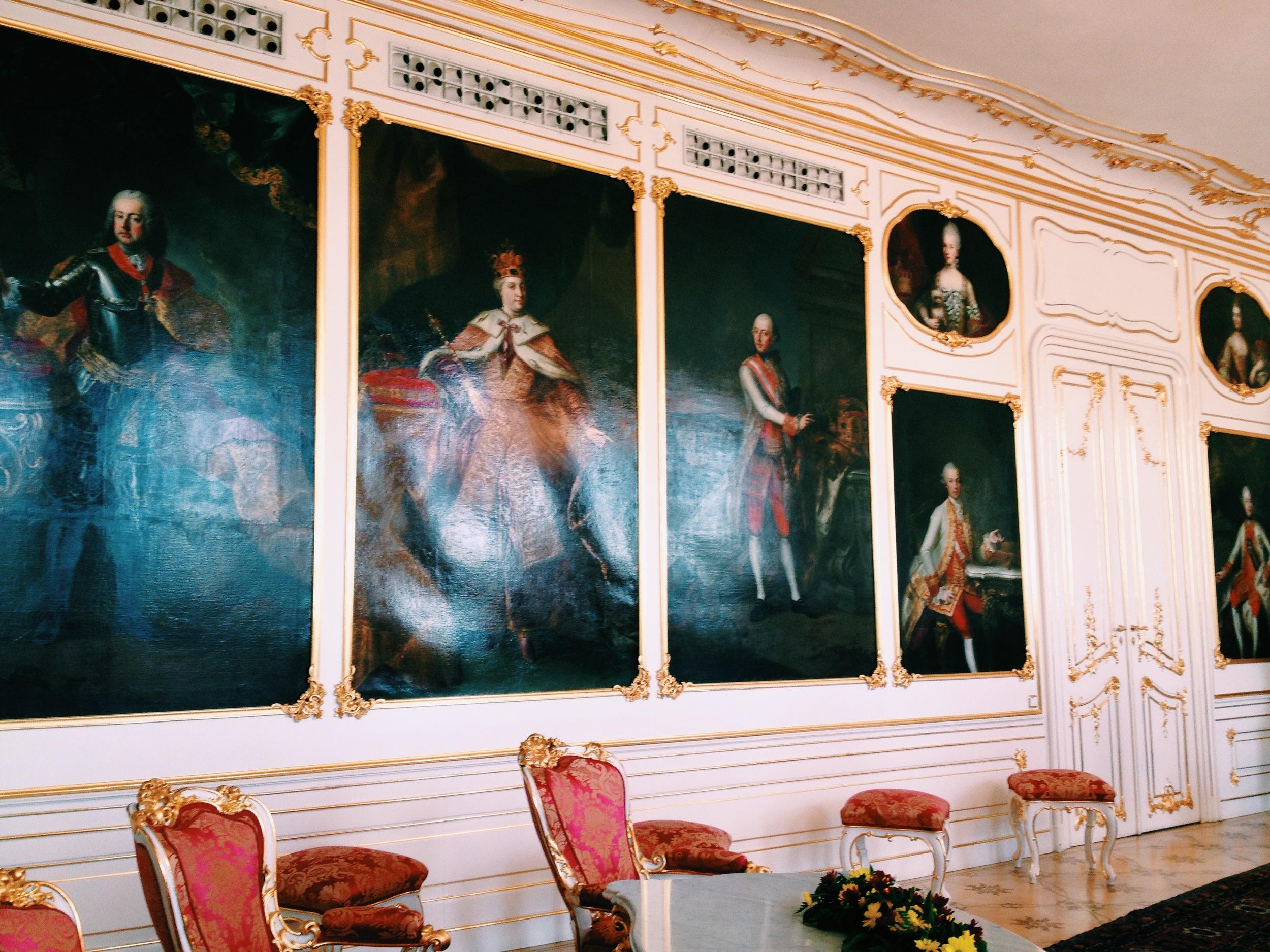 Inside castle