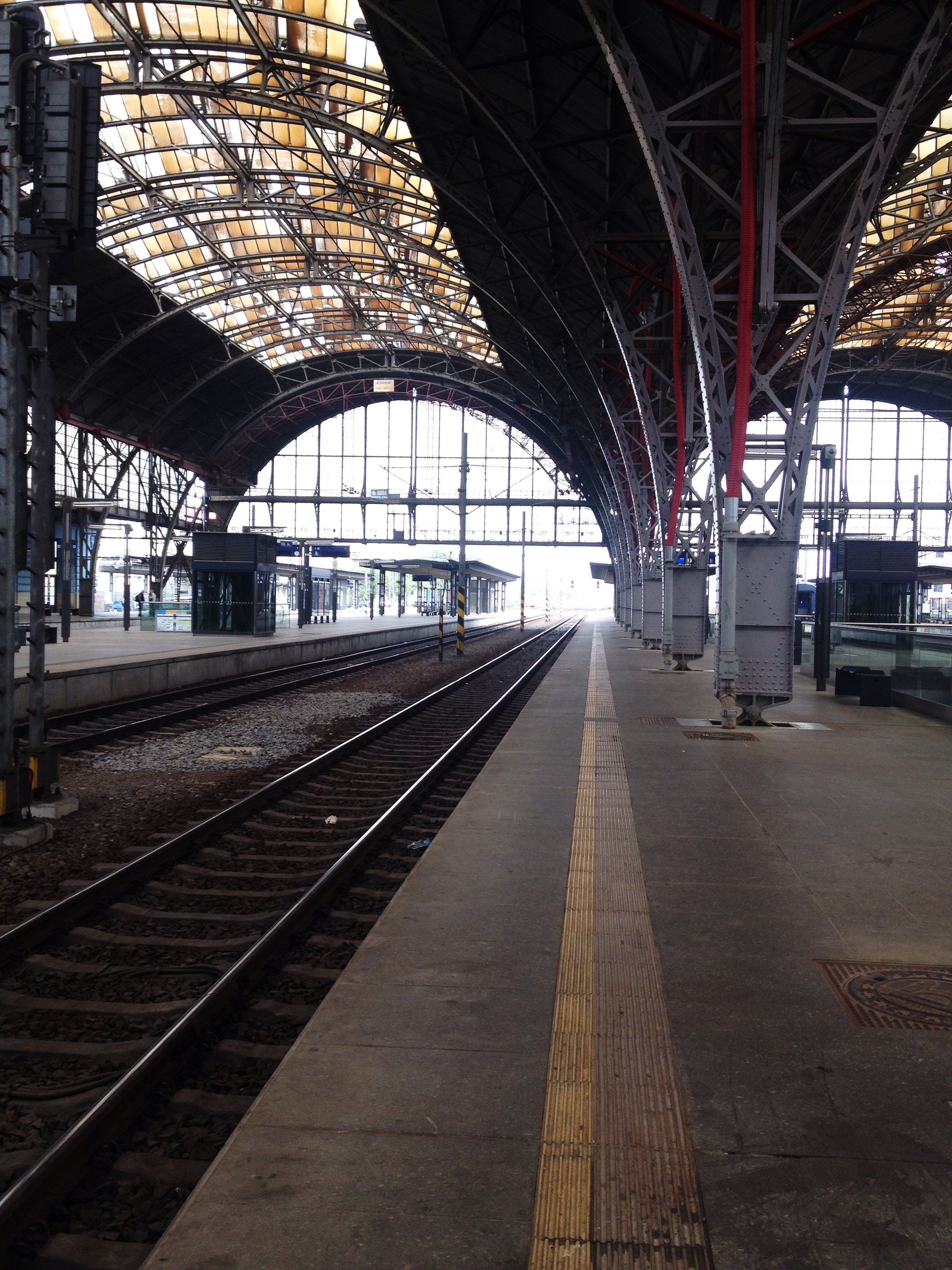 Arrival after a 7-hour train trip from Prague