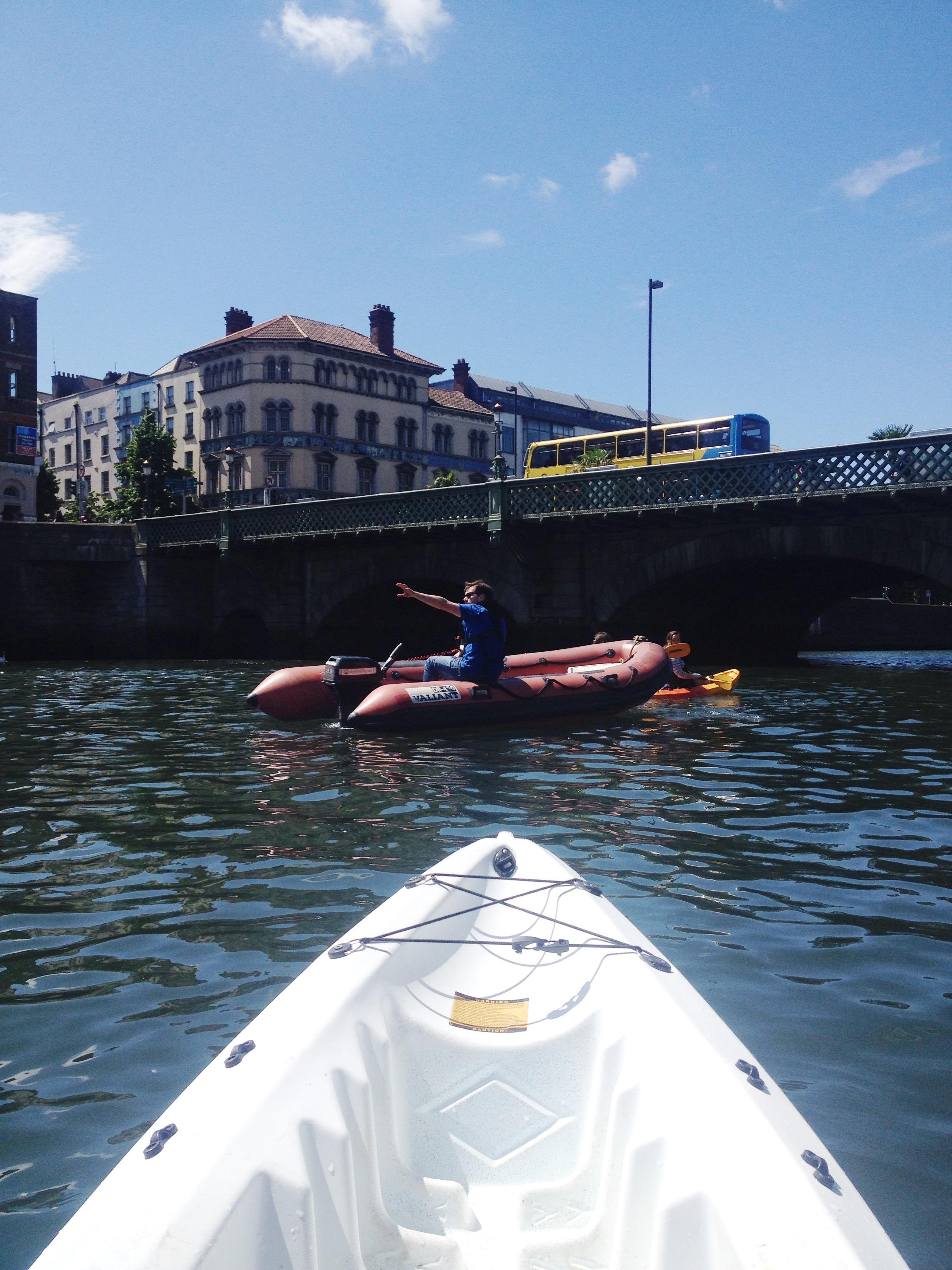 Kayak tour in River Liffey