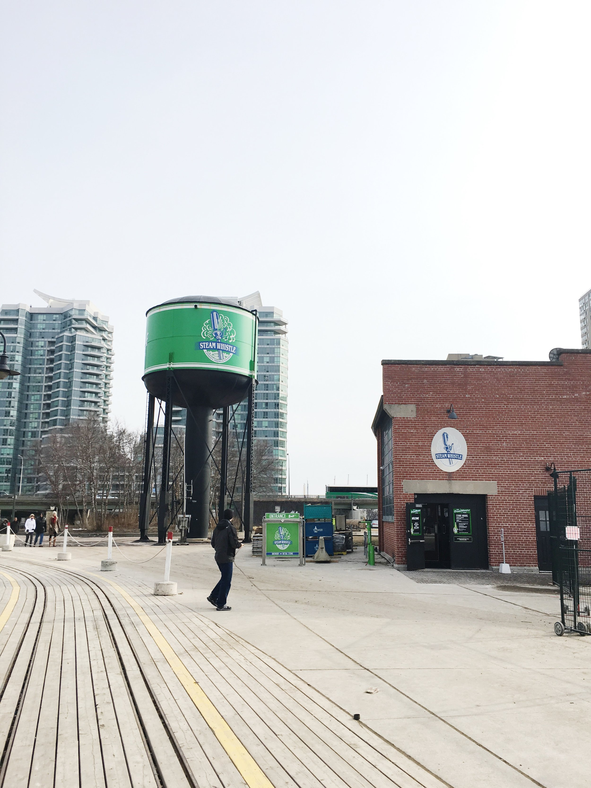 """Toronto's own brewery """"Steam whistle"""""""