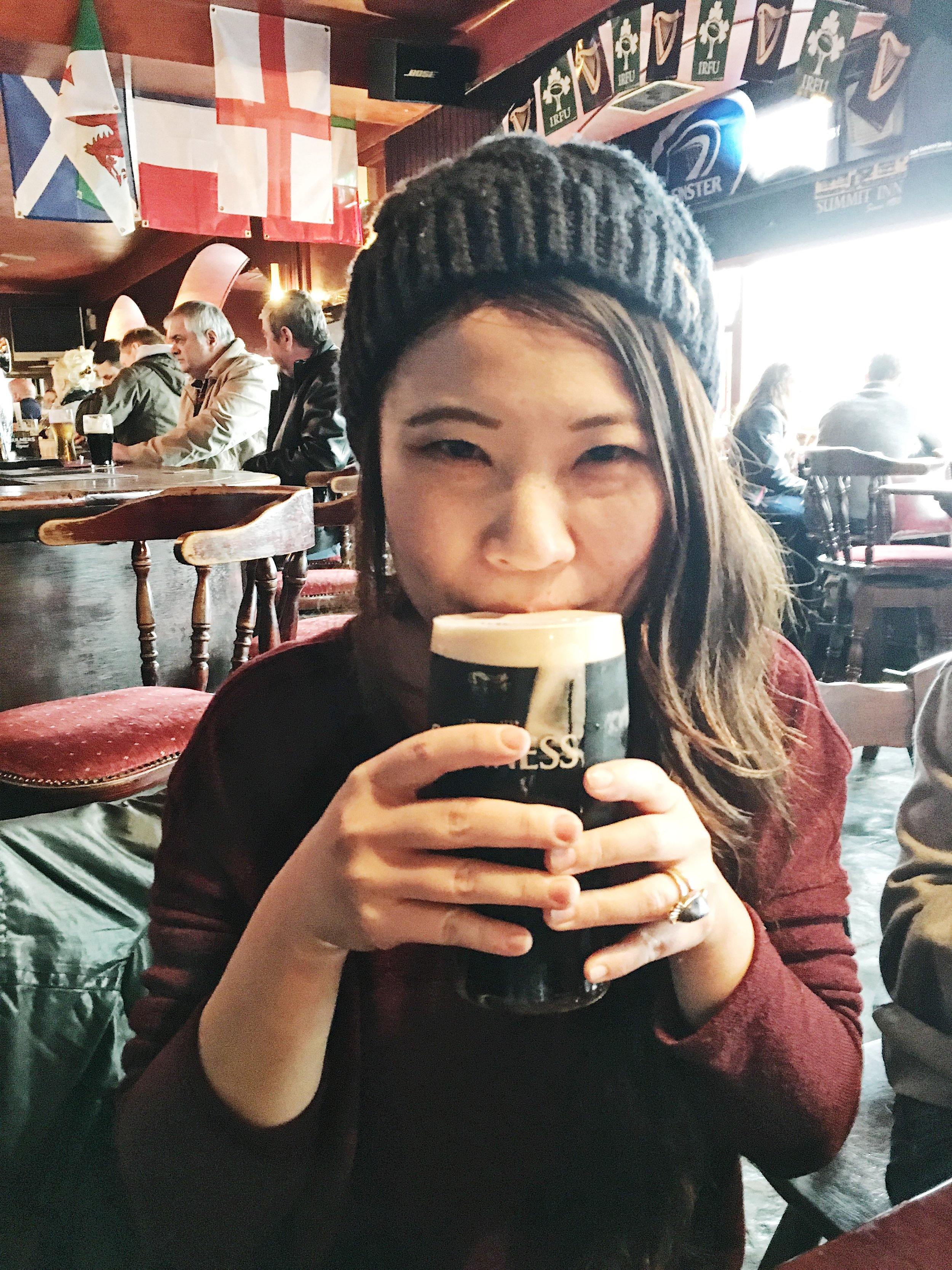 Of course you had to drink Guiness