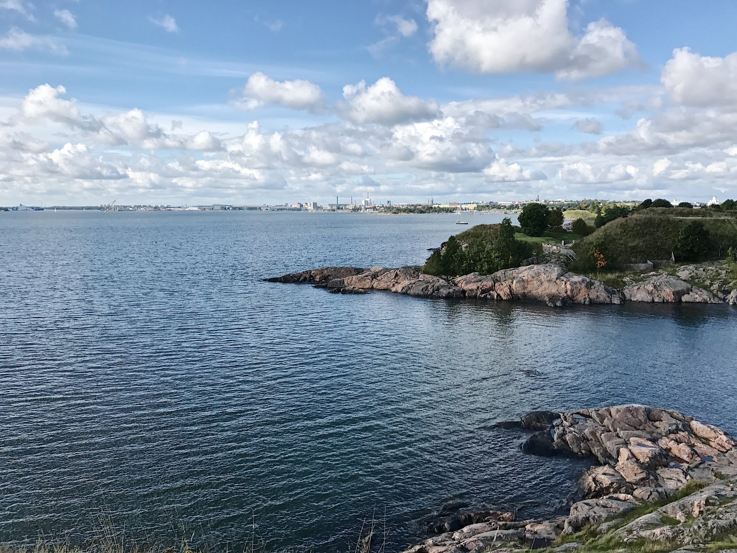 Overlooking Helsinki at the other side