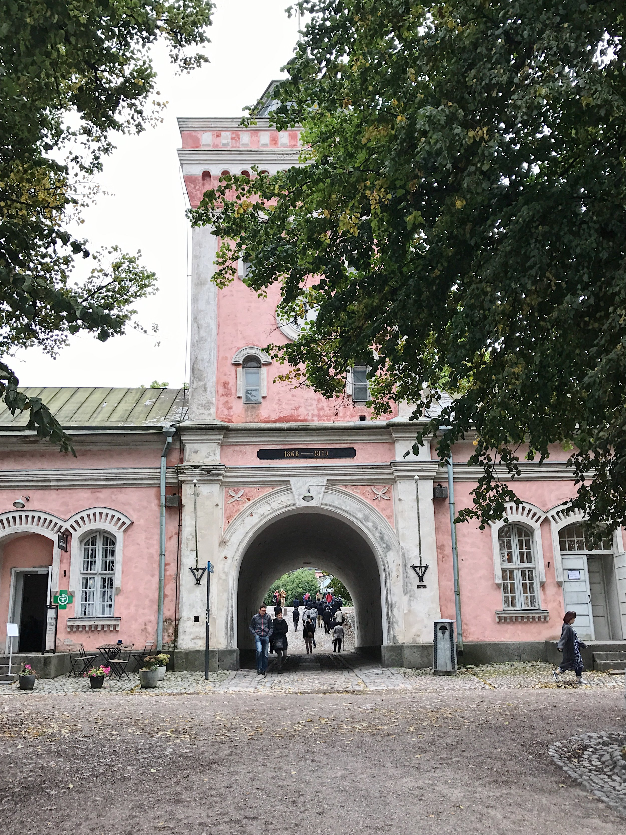 Main entrance to the island