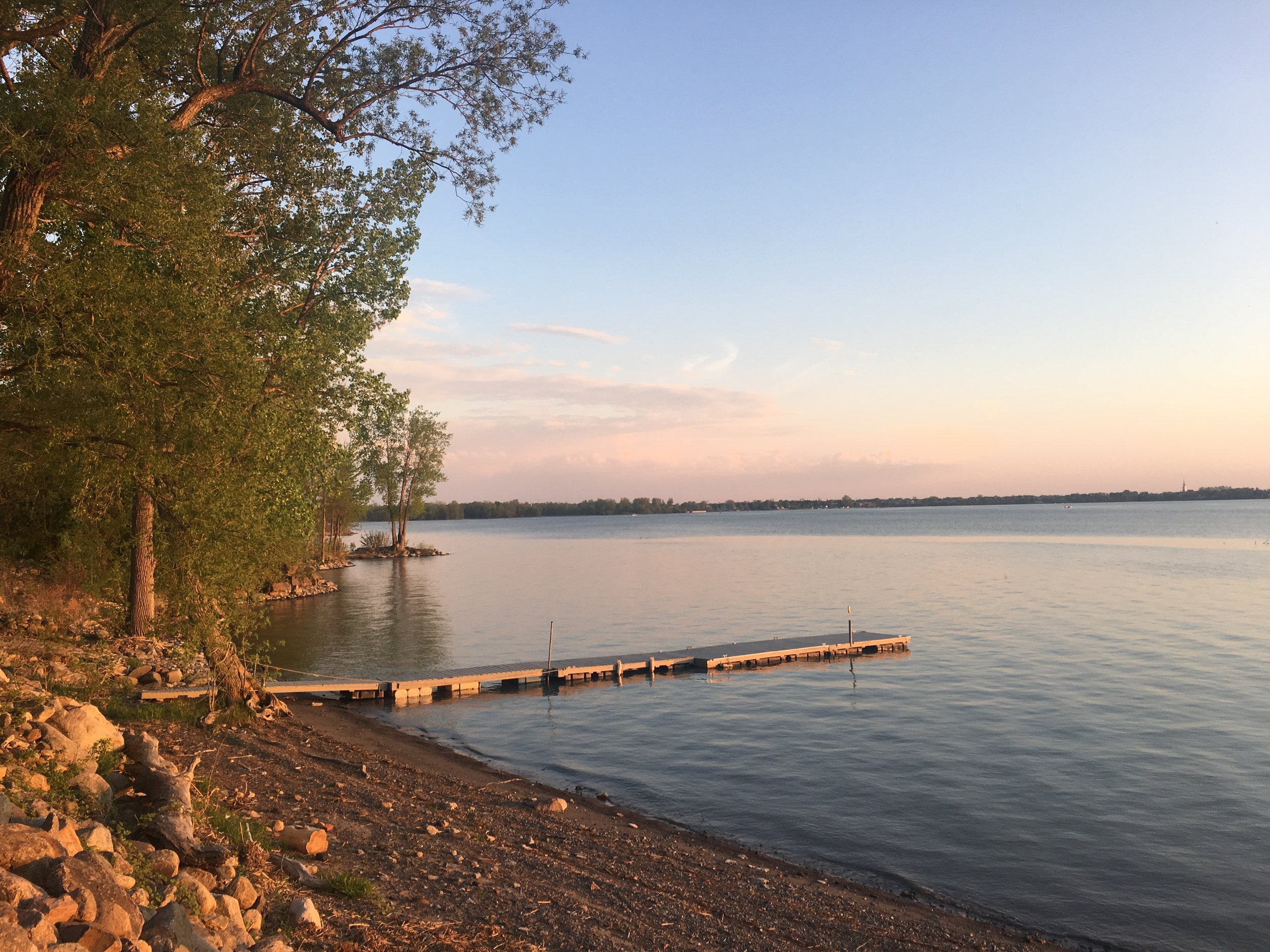 His backyard in Chambly