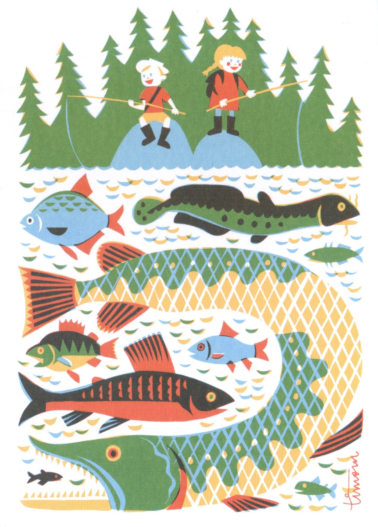 Illustration by Timo Manttari. Publisher: EU Ecolabelled Paper