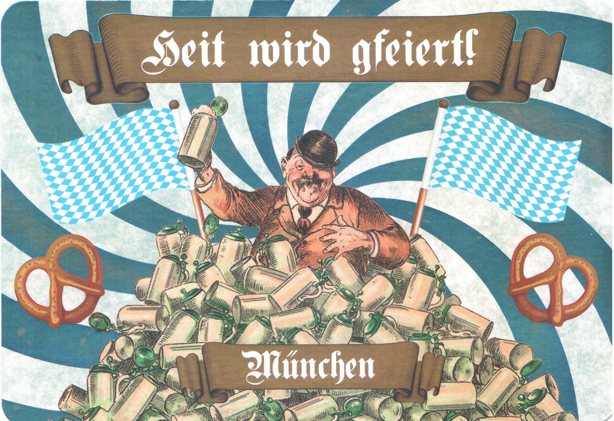 """Bavarian dialect for """"Today we'll be celebrating."""" Publisher: Allegro Edition"""