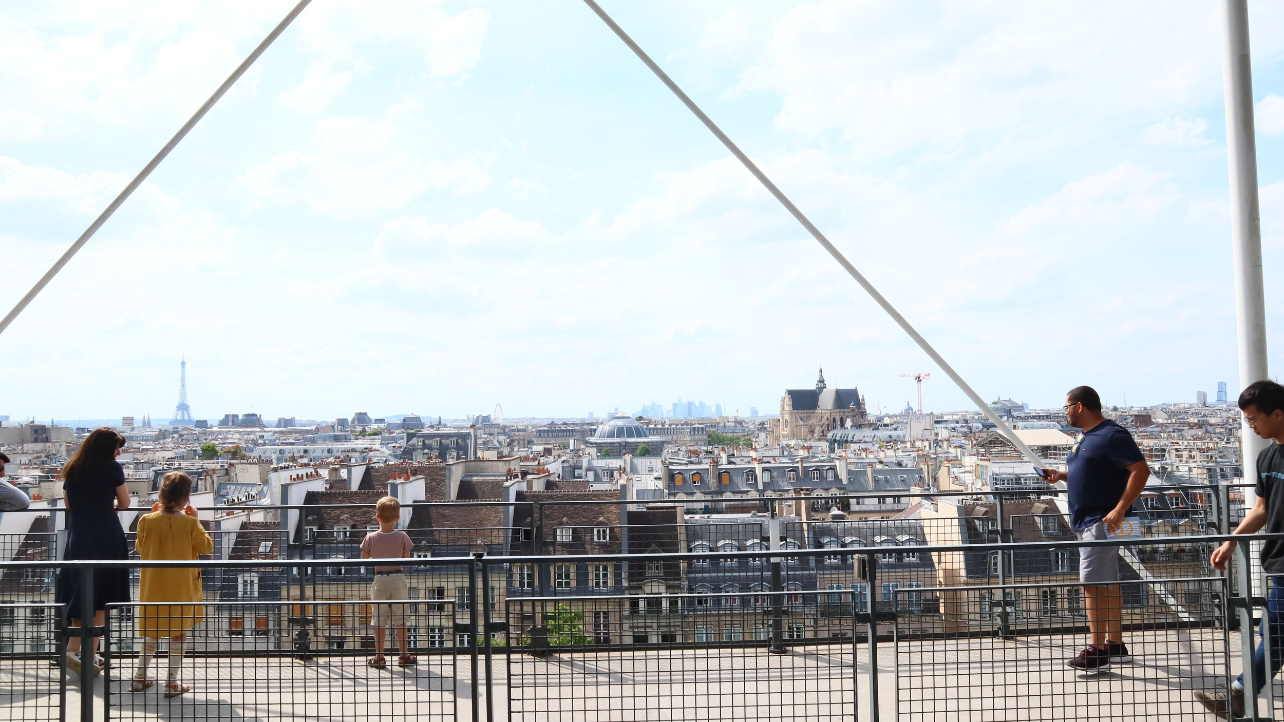 Rooftop view from Pompidou
