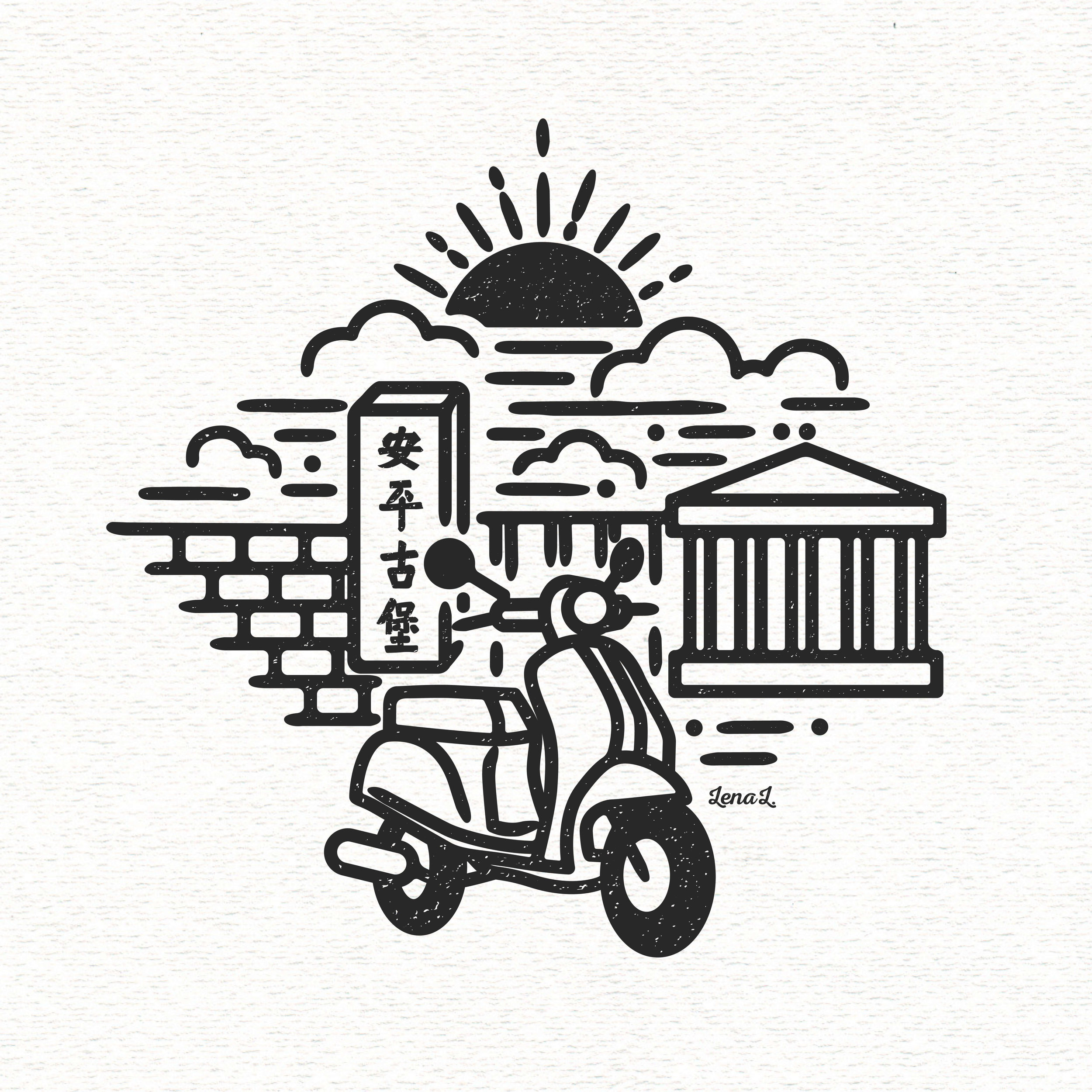 Tainan - Scooter, Fort Zeelandia & Chimei Museum