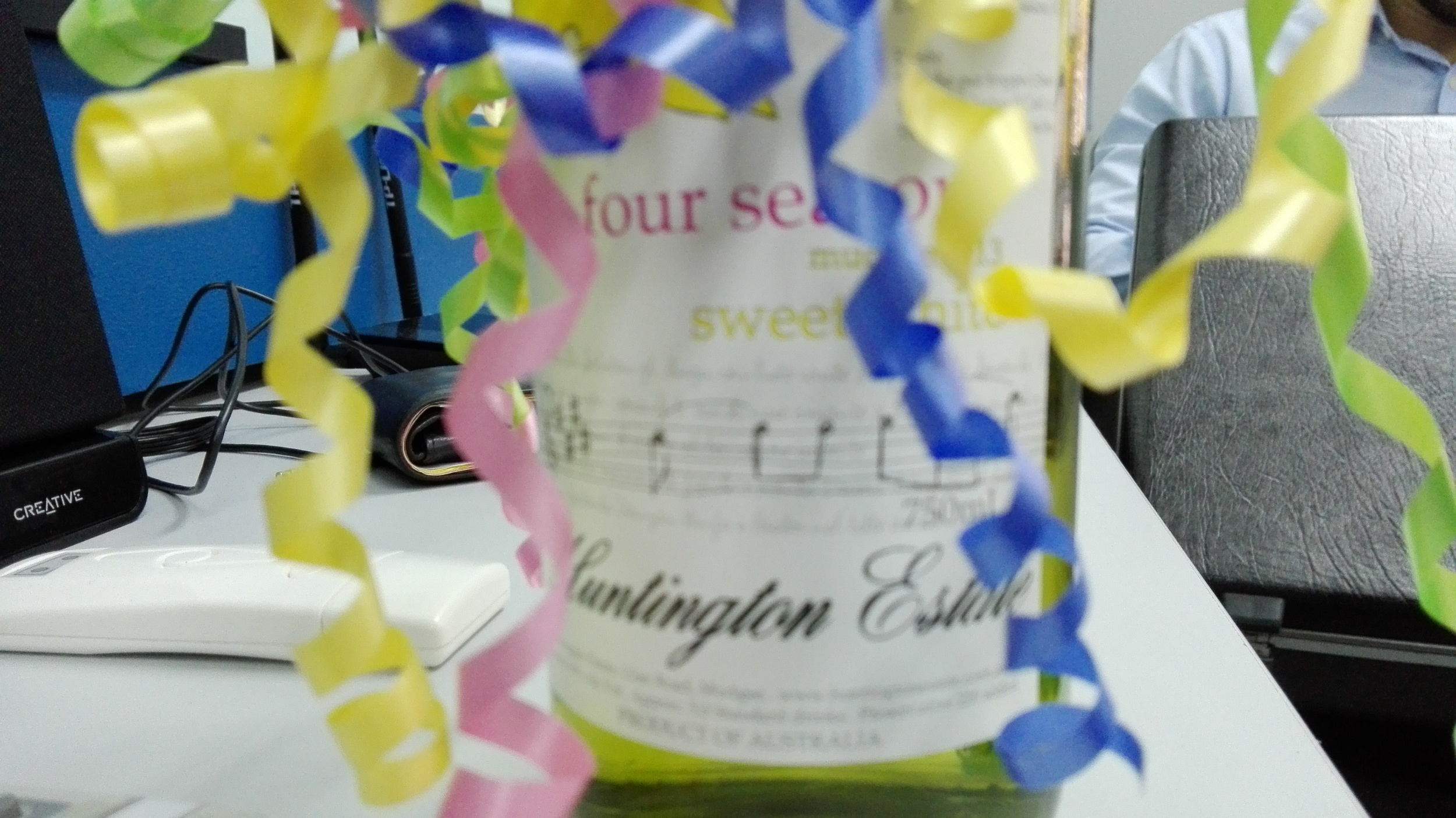 Jay Manahan correctly guessed the weight of this sweet white wine.jpg