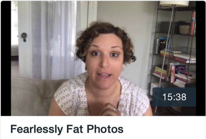 How to take new pictures after you've gained 60 pounds.
