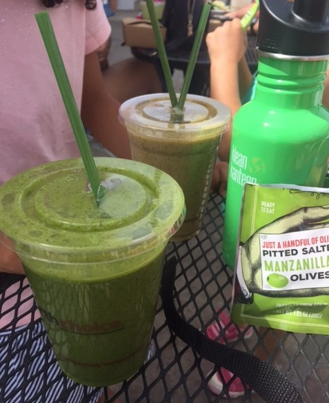 Smoothies at The Natural Sisters Cafe