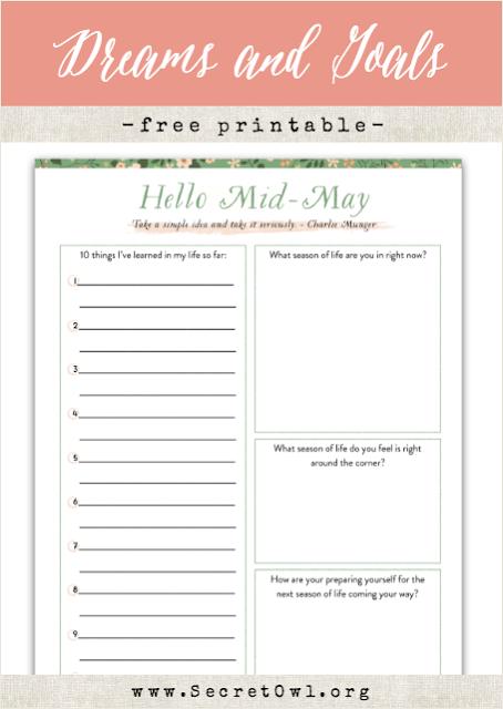 Hello Month Printable May