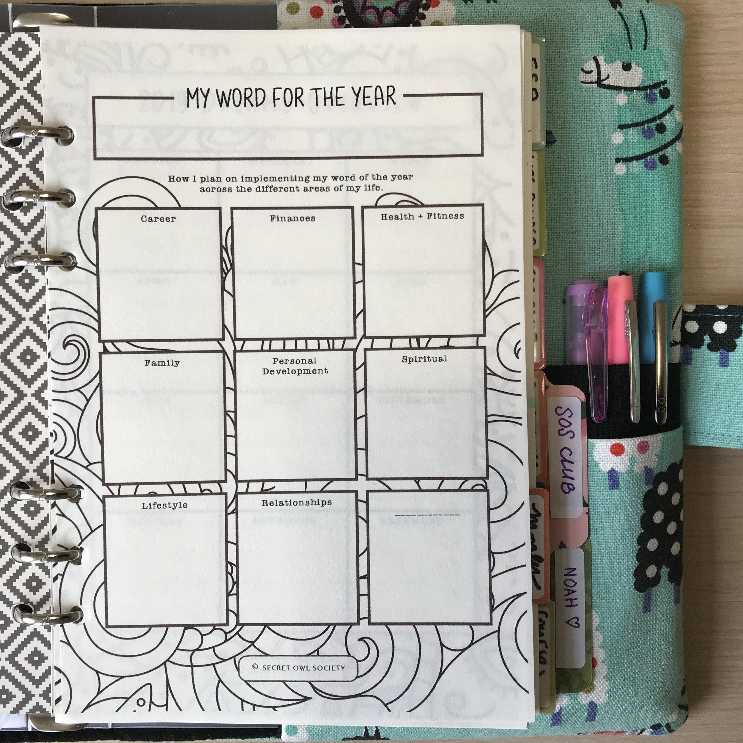 2019 Coloring Joybook, Planner Printables