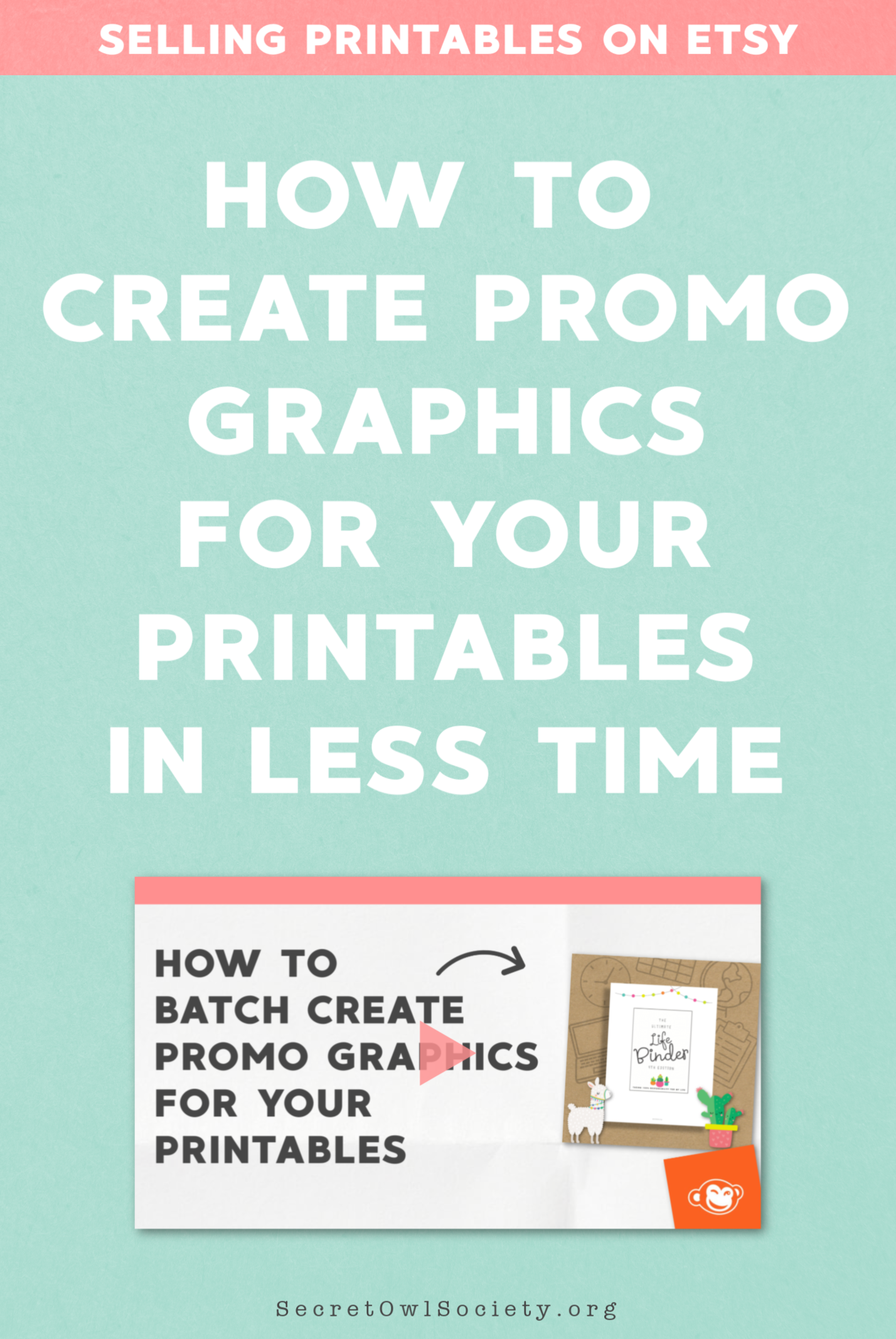 "As a new mom, I have become ever more aware of how long something takes me to do and I ask myself ""What can I do to get this done easier and faster?""  In this video, I share a couple of simple tweaks I use to crank out a ton of promo graphics for my printables in a short period of time using Picmonkey."