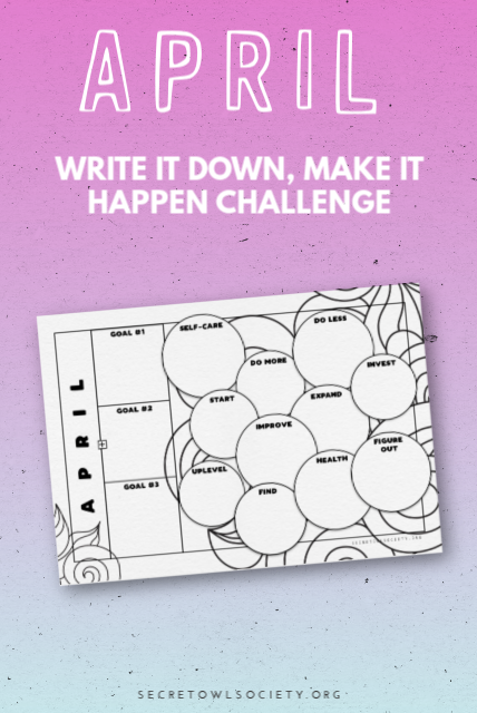 Set your goals with this printable for April and take 100% responsibility for your life. #helloapril #printableplanner #goalsetting