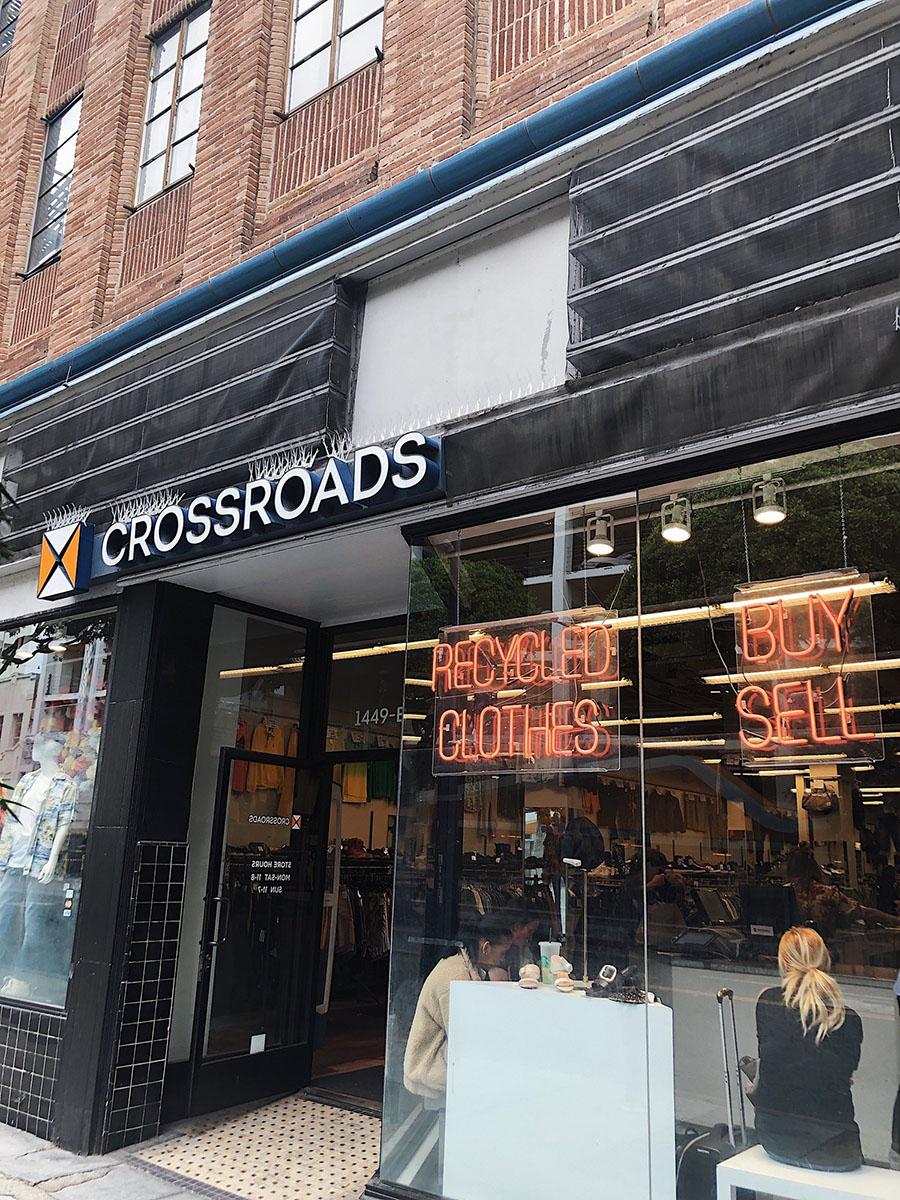 Crossroads Trading Co. on Melrose Avenue in Santa Monica