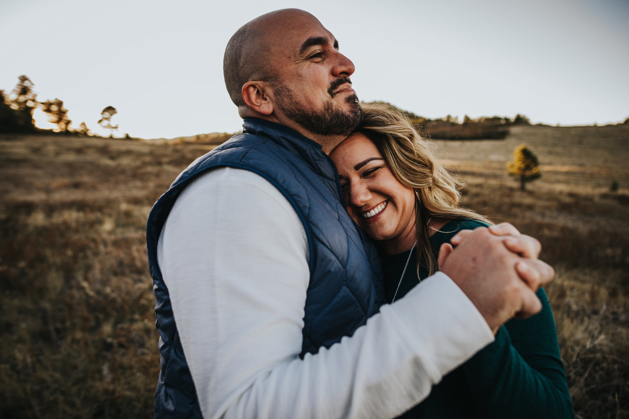Colorado Family photographer Jessica Montoya has her own couples photography session with Wild Prairie Photography.