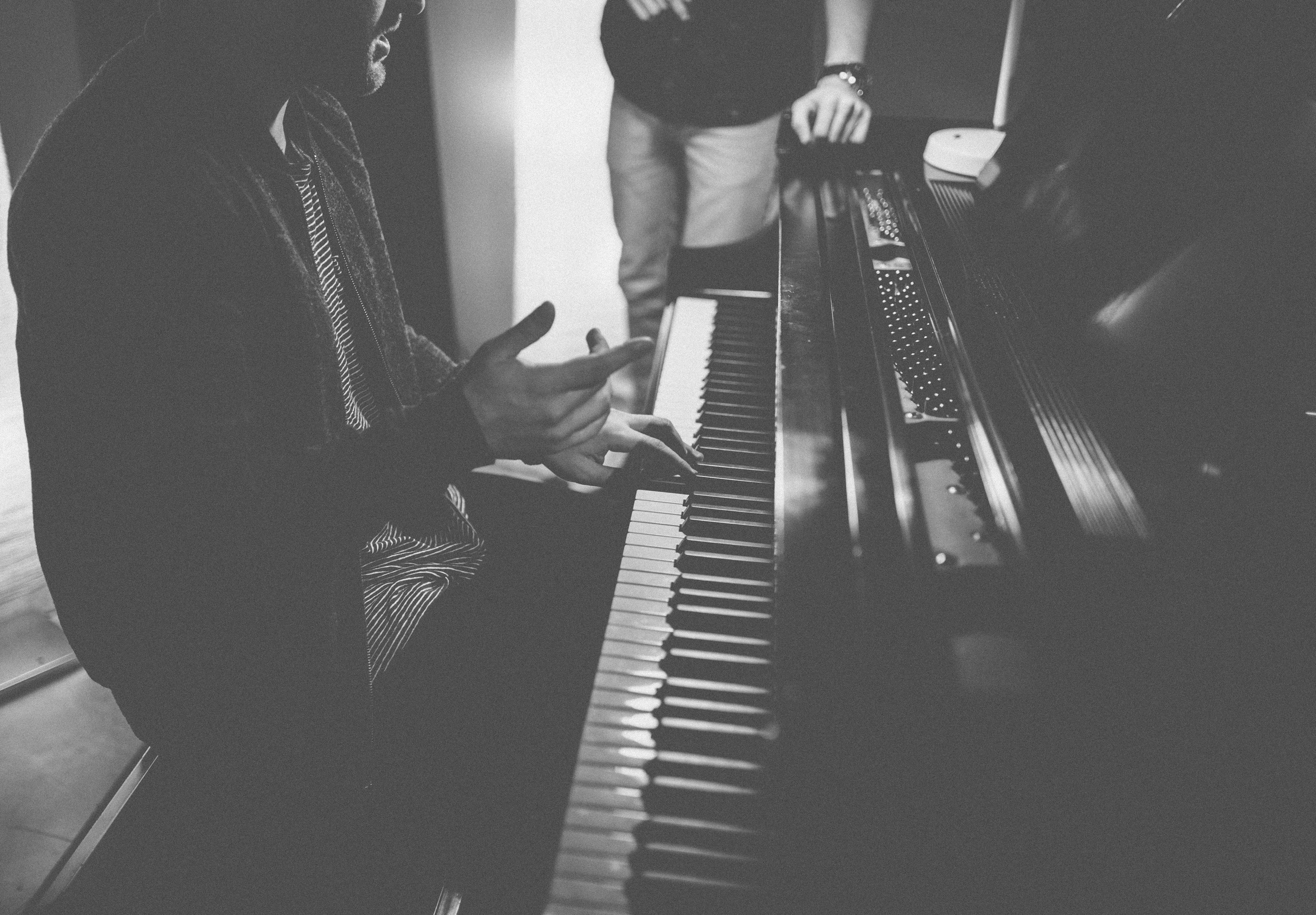 JTL Group songwriting at the piano