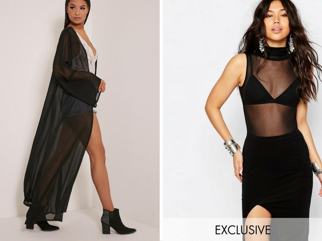 black sheer trend