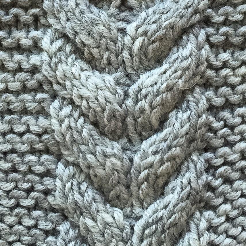 Fishbone braid detail