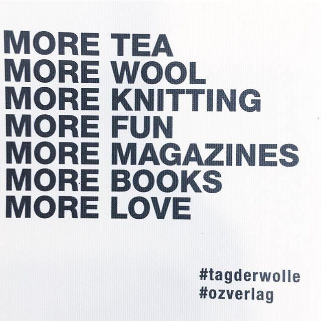 & MORE COFFEE ☕️😍#tagderwolle #ozverlag