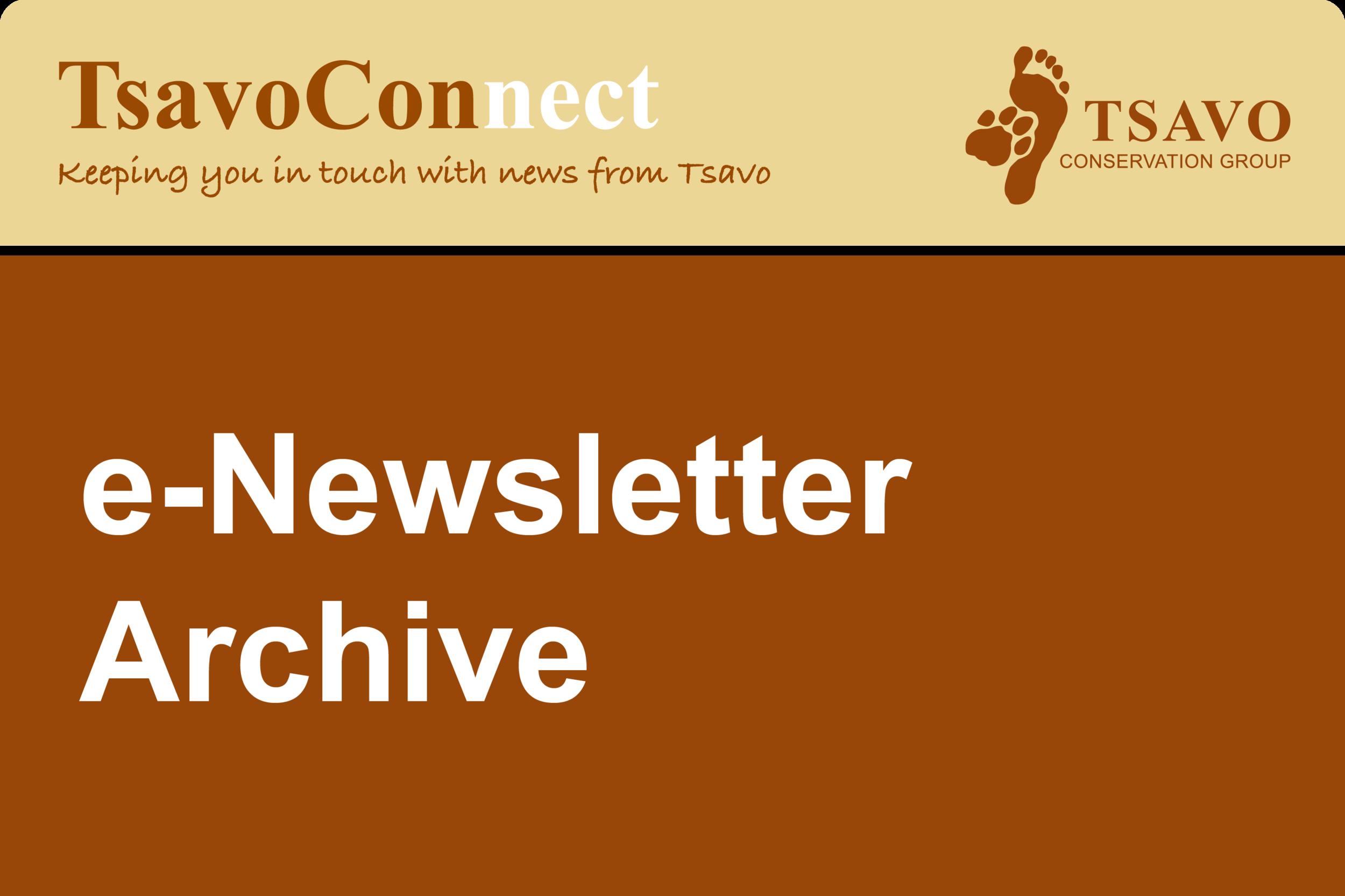TsavoConnect newsletter archive