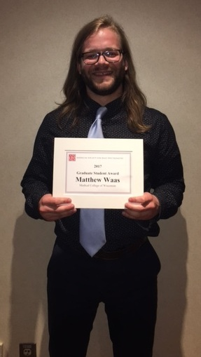Congrats, Matt! ASMS Travel Award Winner - 2017