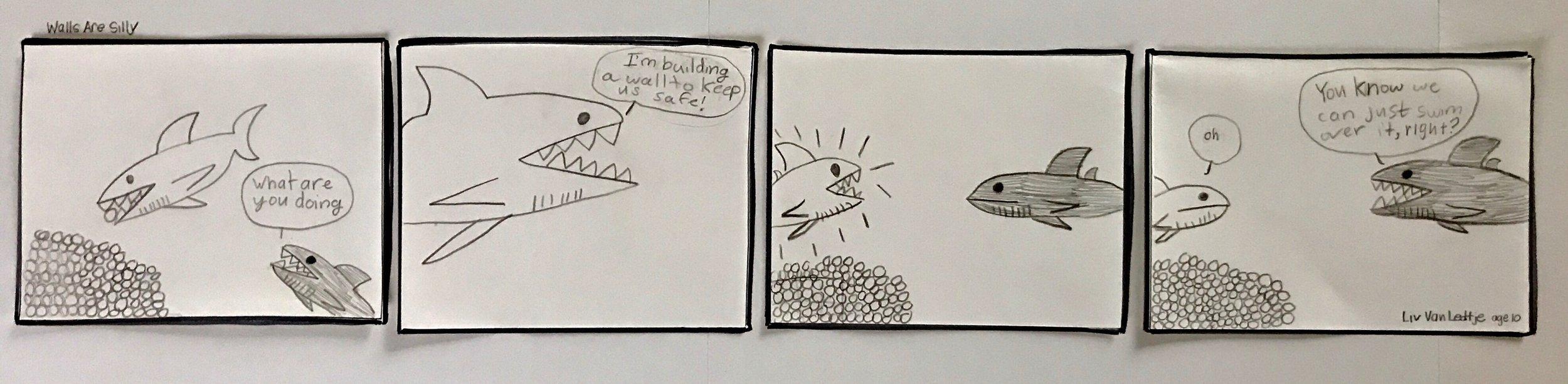 sample comic by Olivia Van Ledtje!