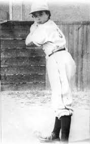 Kathryn at bat in 1950