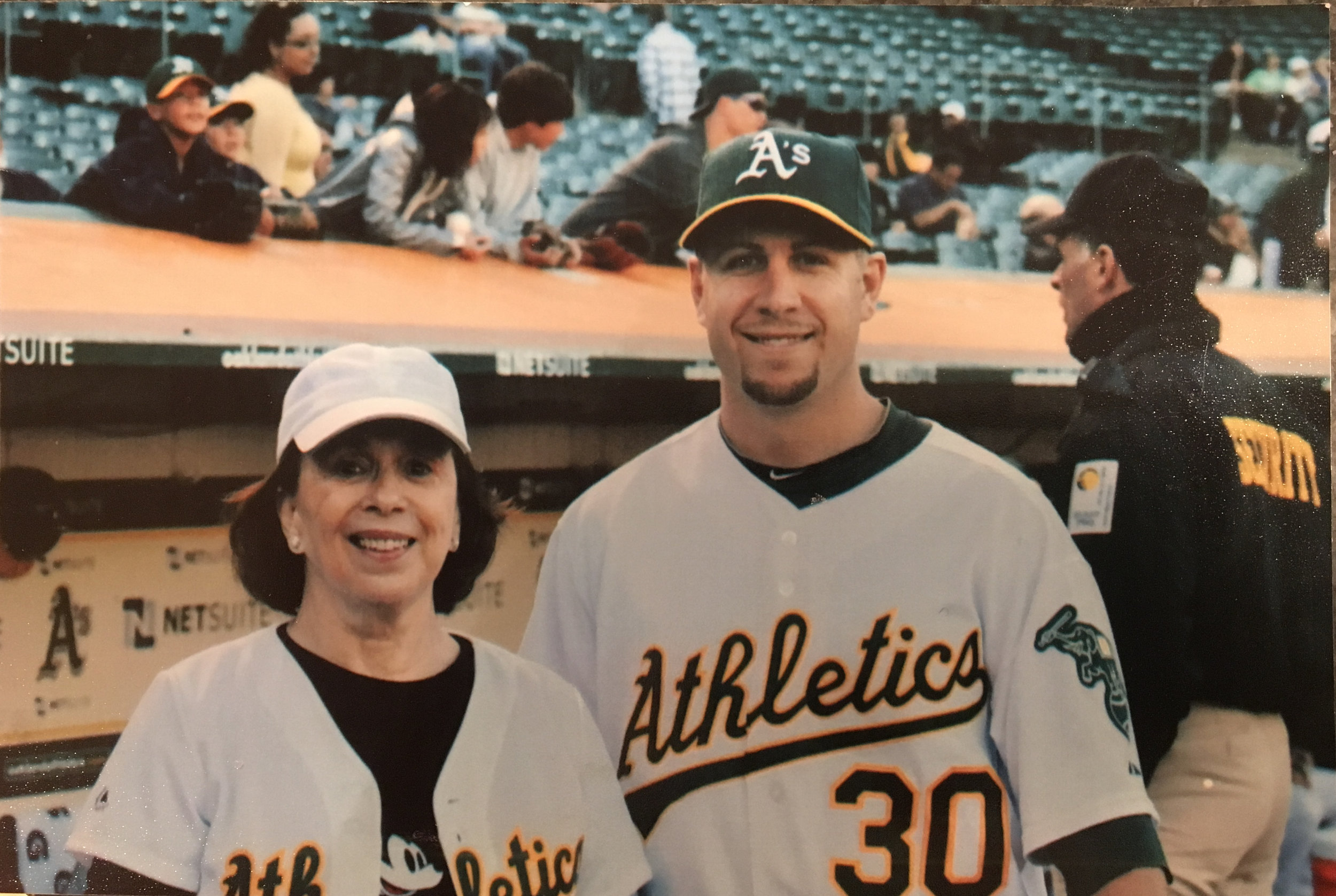 Kathryn throws out first pitch to Oakland A's Steve Tolleson (2010)