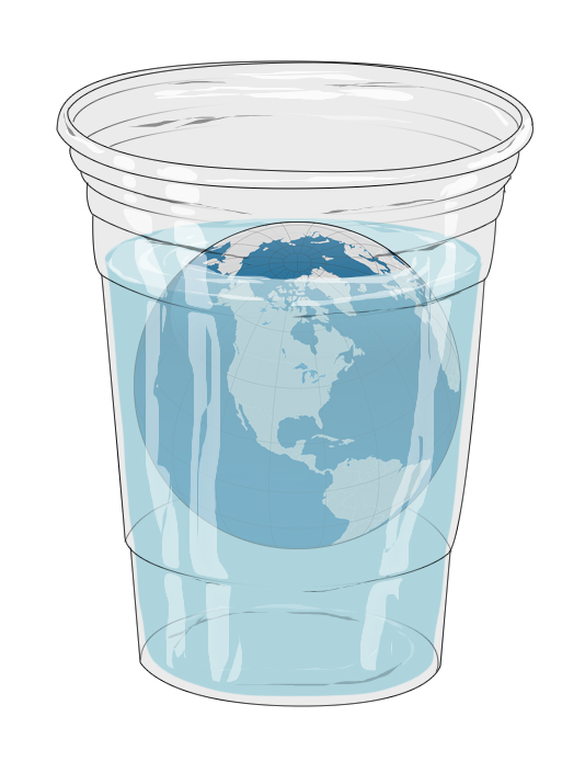 Logo, for environmental challenge to use less plastic cups.