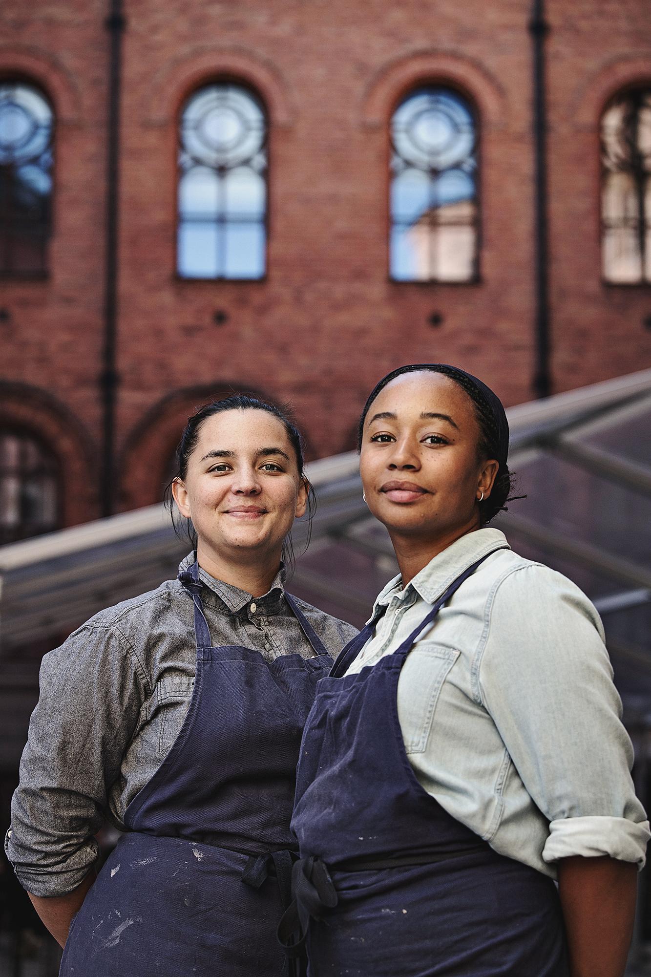 20180914Linn Söderström och Marion Ringborg driver Garba som i höst tar över köket på Riksarkivet i Stockholm.Foto: Hilda Arneback
