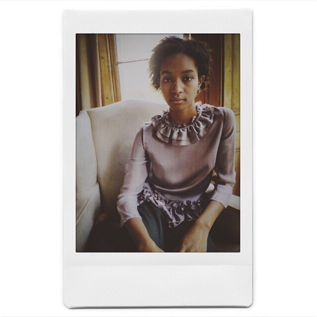 Casual Thursday... The Pierrot blouse we designed and developed for @victoriajmckenna  #📸 @seaskylondon • • • • • #thursday #casualoutfit #silk #designer #fashionaddict #ootd #design #fashionable #fashionblogger #polaroid #relaxing #model #luxury #silkshirt #silkblouse