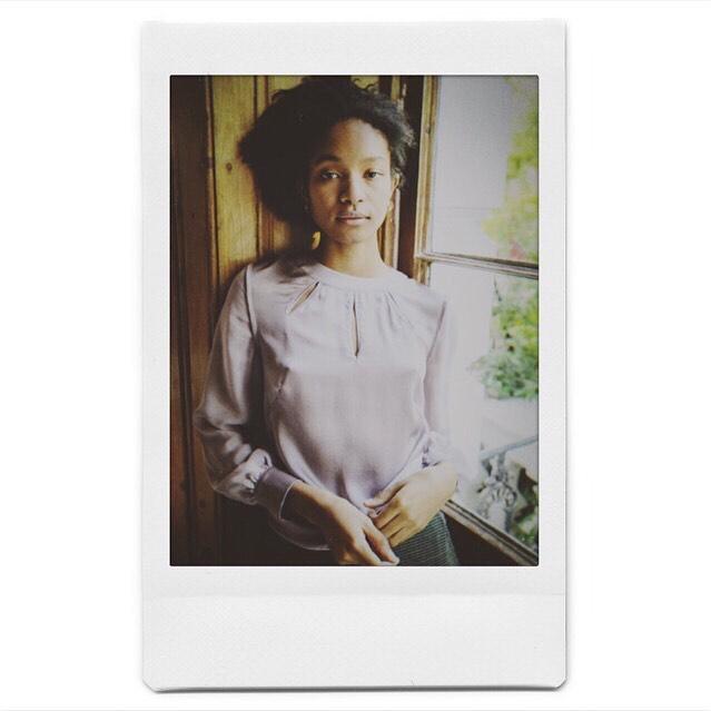 Waiting...in the silk blouse we developed for @victoriajmckenna  #📸 @seaskylondon • • • • • #silkblouse #silk #polaroid #fashionista #instafashion #fashionable #fashionaddict #silkshirt #womensfashion #ootd #ootdfashion